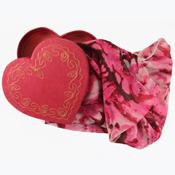rose kaleidoscope scarf