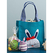Easter Gift Bags Bunny with Bow
