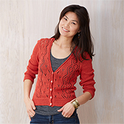 Ashley Cropped Cardigan - Coral