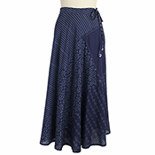 Blue Patchwork Skirt