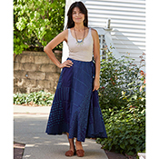blue patchwork skirt alt