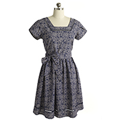 Charlotte Dress - Blue/Natural