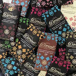 Divine Individual Large Bars - 70% Dark Chocolate Toffee & Sea Salt Bar