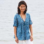 Favorite Tunic - Blue Paisley