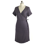 meredith wrap dress lilac