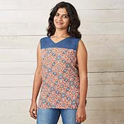 padma sleeveless top