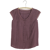 Lacy Shirt - Plum