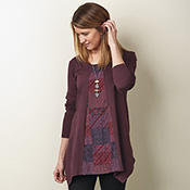 Trushti Tunic - Mulberry