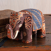 Brown Elephant Batik Animal
