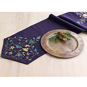 Embroidered Holiday Long Table Runner